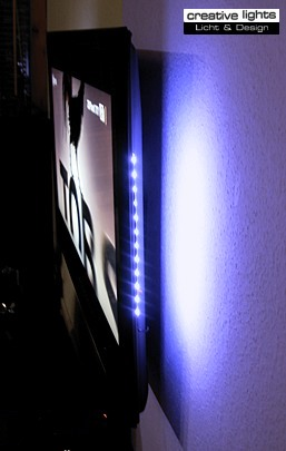 tv hintergrundbeleuchtung led lichtleiste dimmbar blau ebay. Black Bedroom Furniture Sets. Home Design Ideas