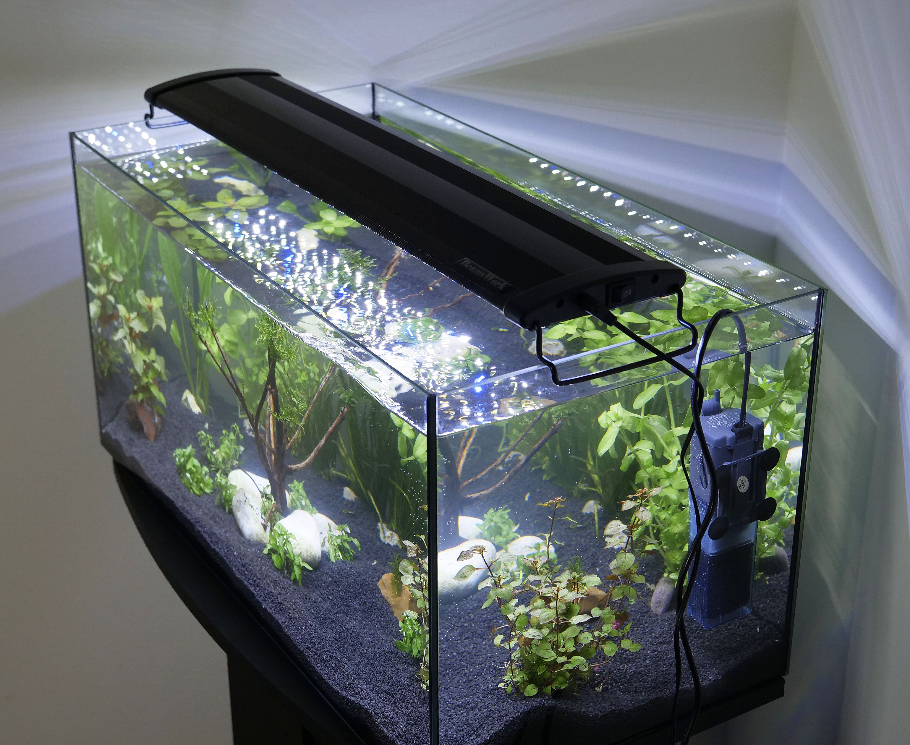 led aufsatzleuchte f r 150 160cm aquarium 60 w 5640 lumen hi power beamswork ebay. Black Bedroom Furniture Sets. Home Design Ideas